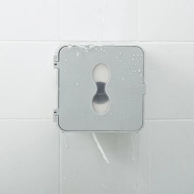 화장실 휴지걸이 방수 접착식 선반형 심플 플러스