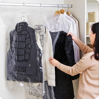 옷장정리 옷결이형 의류 압축팩