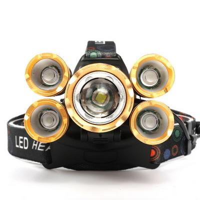 LED 휴대용 캠핑 낚시 헤드랜턴 헤드램프 5구 SHC-139