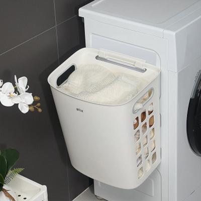 이동식 빨래바구니 세탁바구니 흡착식 빨래수거함