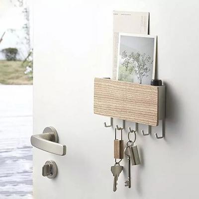 접착식 벽걸이 후크 열쇠걸이 소품걸이 우드