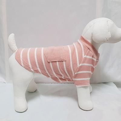줄무늬애견면티 강아지옷 편안한 면티셔츠 애견실내복