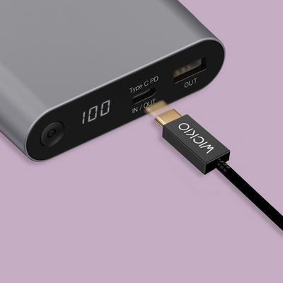 위키오 CRU002 5A 초고속 충전 USB3.1 Gen 2 C to C Cable 1m
