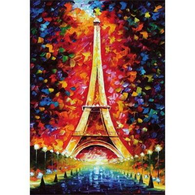 1000피스 목재 직소퍼즐 - 에펠탑 페인팅 (WPK25)