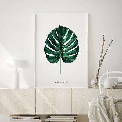 몬스테라 보테니컬 액자 식물 그림 인테리어 A3 포스터 (액자미포함)