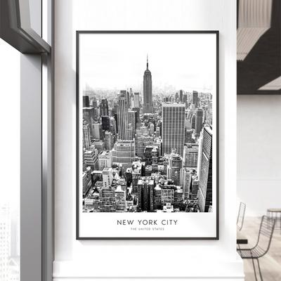 New York City 뉴욕 액자 흑백 인테리어 그림 A3포스터 (액자미포함)