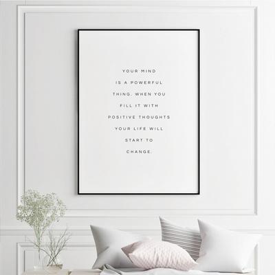 유어마인드 글귀 액자 인테리어 그림 50x70 포스터 (액자미포함)