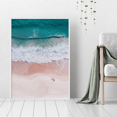 해변 파도 풍경 액자 인테리어 그림 50x70 포스터 + 이케아액자