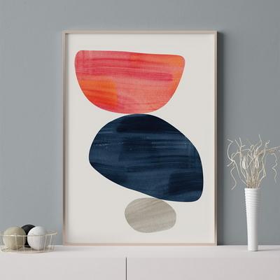 륀느 추상화 액자 인테리어 그림 50x70 포스터 + 이케아액자