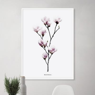 목련 꽃 그림 인테리어 액자 50x70 포스터 (액자미포함)