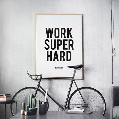 엘론 머스크 명언 타이포그래피 인테리어 액자 A3 포스터 (액자미포함)