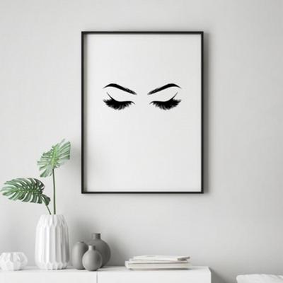 속눈썹 패션 그림 인테리어 액자 50x70 포스터 + 이케아액자