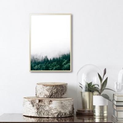 숲 보테니컬 액자 식물 그림 인테리어 50x70 포스터 (액자미포함)