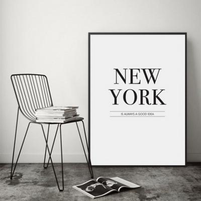뉴욕 타이포그래피 그림 인테리어 액자 A3포스터 + 알루미늄액자