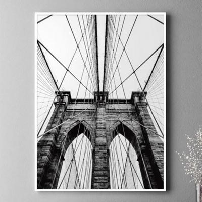 브루클린다리 뉴욕 사진 액자 인테리어 그림 A3 포스터 + 알루미늄액자