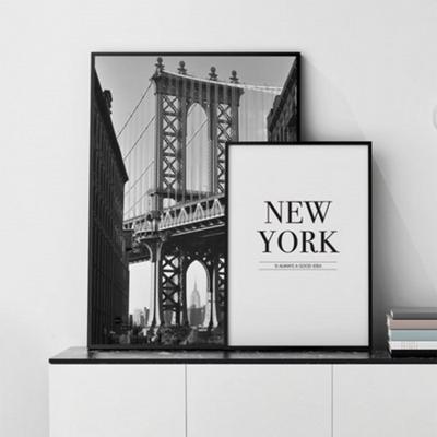 브루클린거리 뉴욕 사진 액자 인테리어 그림 50x70 포스터 + 이케아액자