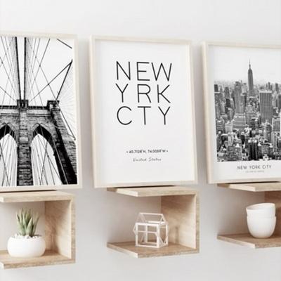 이니셜 타이포그래피 뉴욕 액자 인테리어 그림 50x70 포스터 (액자미포함)
