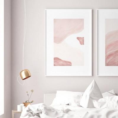 핑크레이어 추상화 액자 인테리어 그림 A2 포스터 + 알루미늄액자