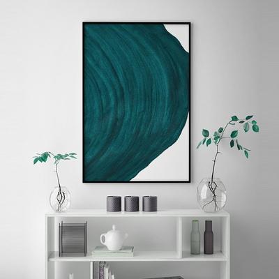 그린라운드 추상화 액자 인테리어 그림 50x70 포스터 (액자미포함)