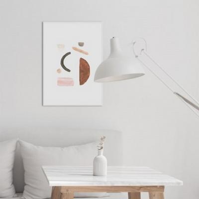 페블핑크 추상화 액자 인테리어 그림 50x70 포스터 (액자미포함)