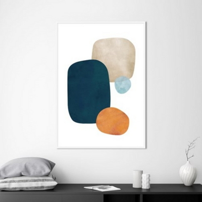 콜라주 추상화 액자 인테리어 그림 50x70 포스터 + 이케아액자