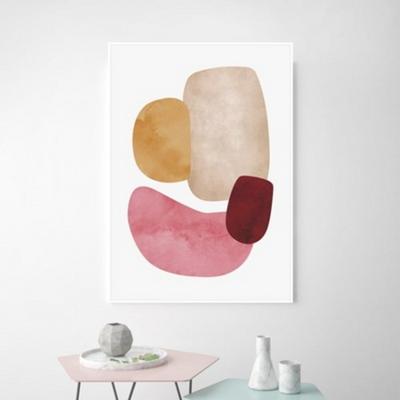미뇽 추상화 액자 인테리어 그림 50x70 포스터 + 피스크보액자