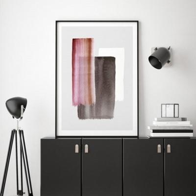 마젠타 추상화 액자 인테리어 그림 50x70 포스터 + 피스크보액자