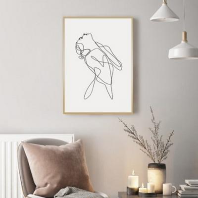 우먼바디 드로잉 그림 인테리어 액자 50x70 포스터 + 피스크보액자