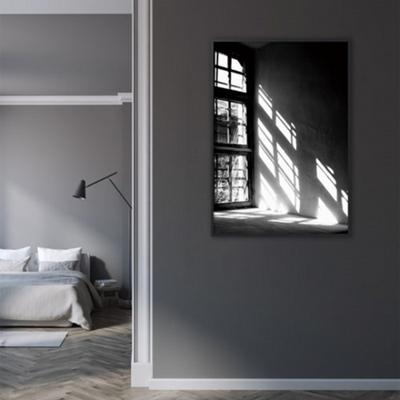 흑백 창문 그림 포스터 인테리어 액자 50x70 포스터 + 이케아액자
