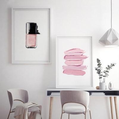 핑크라인 패션 포스터 인테리어 그림 액자 A2 포스터 (액자미포함)
