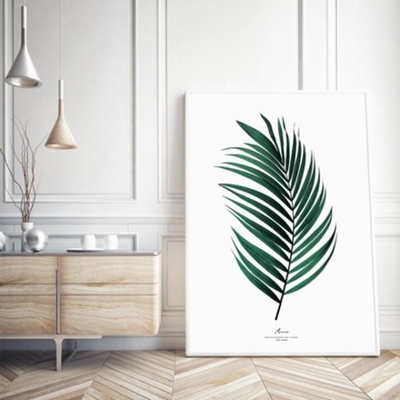 아레카 보테니컬 그림 인테리어 액자 50x70 포스터 + 이케아액자