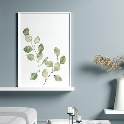 수채화 유칼립투스 보테니컬 식물 그림 인테리어 액자 50x70포스터 + 이케아액자