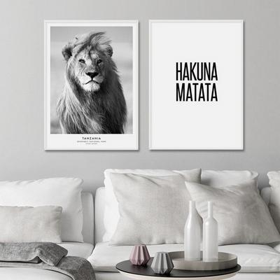 사자 동물 액자 인테리어 그림 A3 포스터 (액자미포함)