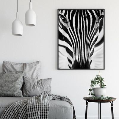 얼룩말 동물 액자 인테리어 그림 50x70 포스터 (액자미포함)