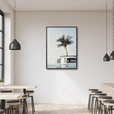 서핑버스 해변 풍경 액자 인테리어 그림 A3 포스터 (액자미포함)