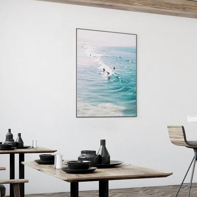 서퍼 바다 그림 여름 풍경 인테리어 액자 50x70 포스터 + 알루미늄액자
