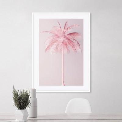 핑크팜 야자수 그림 인테리어 액자 여름 A3 포스터 + 알루미늄액자