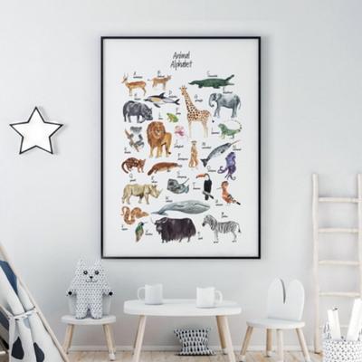 알파벳 동물 아이방 그림 인테리어 액자 A3 포스터 + 알루미늄액자