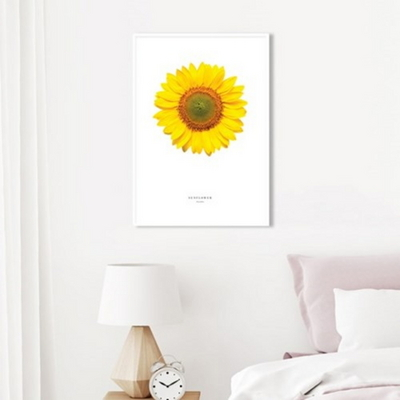 해바라기 꽃 그림 풍수 인테리어 액자 아브라카다브라 50x70 포스터 (액자미포함)