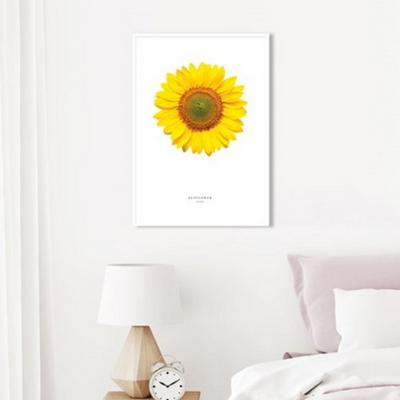 해바라기 꽃 그림 풍수 인테리어 액자 아브라카다브라 50x70 포스터 + 알루미늄액자