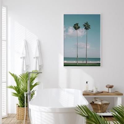 트윈팜 바다 포스터 인테리어 그림 50x70 포스터 + 피스크보액자