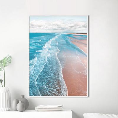 롱비치 바다 포스터 인테리어 그림 50x70 포스터 + 알루미늄액자