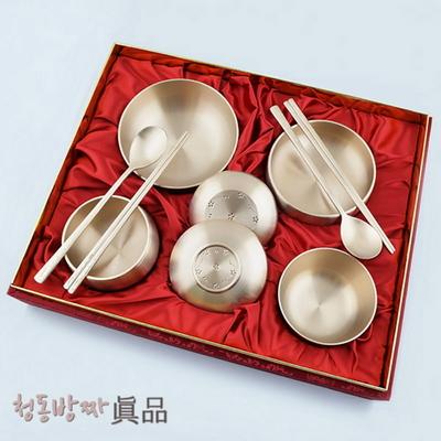 H.jin 청동조각방짜유기 반상기세트 2인