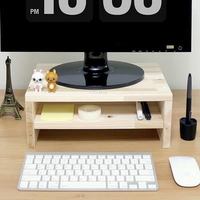 소이믹스 원목 모니터 받침대 심플더블 2단 340x140