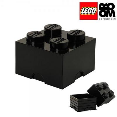 [레고 스토리지] 레고 브릭 정리함 4구-블랙