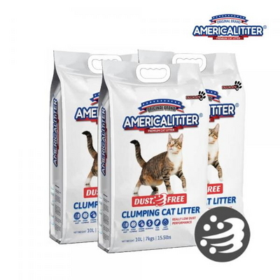 더스트프리 고양이모래 10Lx3개/아메리카리터