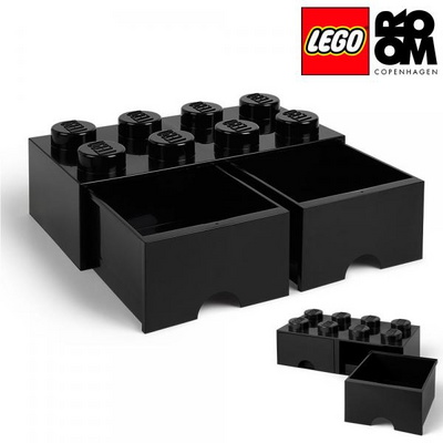 [레고 스토리지] 레고 서랍형 정리함 8구-블랙