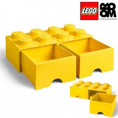 [레고 스토리지] 레고 서랍형 정리함 8구-옐로우