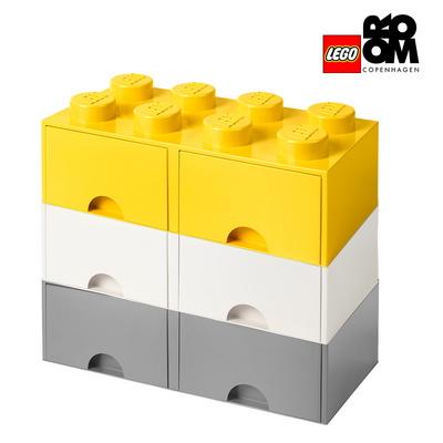 [레고스토리지] 레고 정품 8구 3단서랍장 세트-8S화이트_8S그레이+8S옐로우