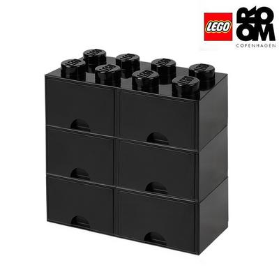 레고스토리지 레고 8구3단서랍장세트 블랙